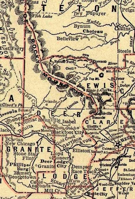 MONTANA COUNTY MAP - Montana county map